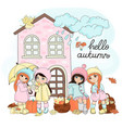 autumn gifts set vector image vector image