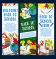 back to school chalkboard banners vector image vector image