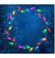Background with Christmas garland of lights vector image vector image