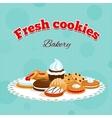 Bakery retro poster vector image