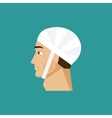 Bandaged head vector image