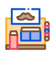 barber shop building icon outline vector image vector image