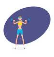 beautiful girl engaged in weightlifting vector image vector image