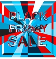 Big ice sale poster with BLACK FRIDAY SALE text vector image vector image