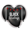 black friday poster with white frame with festoons vector image vector image