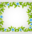 blue flower nature frame vector image vector image