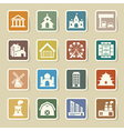 buildings icon set vector image