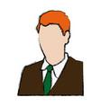 business man portrait character wear suit and tie vector image
