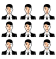 Businessman face emotions vector image