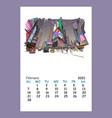calendar sheet ny december month 2021 year ne vector image