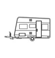 camper trailer vacation travel outline image vector image vector image
