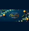 christmas sale web banner holiday background with vector image vector image