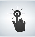 clicking hand pointer icon vector image vector image