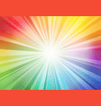 comic color gradient sun rays background pop art vector image