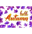 Cool fresh blue Hello Autumn design with elegant vector image vector image