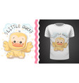 cute duck - idea for print t-shirt vector image vector image