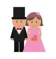 cute groom and bride icon image vector image vector image