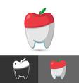 Dentist Dental Apple Symbol Icon Logo vector image