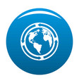 earth icon blue vector image