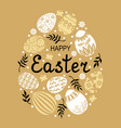 easter decorative egg eggs vector image vector image