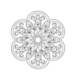 entangle stylized arabic indian mandala hand vector image