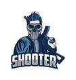 esport skull logo vector image