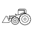 Excavator heavy machinery pictogram icon image vector image