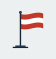 flag of austria flag stand vector image vector image