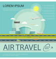 flat air travel poster vector image