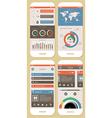 flat elements infographics vector image vector image