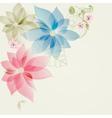 Floral corner card vector image vector image
