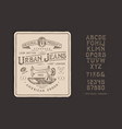 font urban jeans vector image vector image