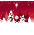 Funny Christmas background vector image vector image