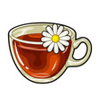 glass mug with tea usefulvegetarian therapeutic vector image