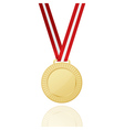 Gold Medal With Red Ribbon Icon vector image