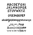 Handwritten gel font vector image