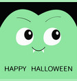 happy halloween count dracula square head cute vector image vector image