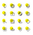 help icons vector image vector image