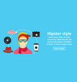 hipster style banner horizontal concept vector image