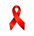 hiv aids awareness red ribbon symbol vector image vector image