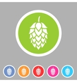 Hop beer sign icon flat web symbol logo label vector image vector image