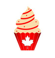 isolated canadian cupcake icon vector image
