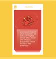 magical hands mobile vertical banner design design vector image