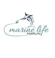 Marine life with marlin