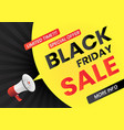 megaphone with black friday sale message vector image