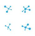 molecule design vector image vector image