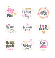 mothers day hand drawn lettering isolated holiday vector image vector image