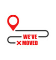 move location icon in flat style pin gps on white vector image