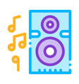 musical dynamic device for listening songs vector image vector image