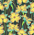 narcissus flower seamless pattern vector image vector image